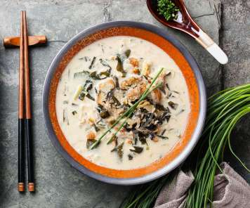 Japanese Creamy Soup with Chicken